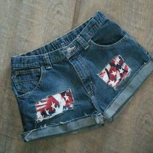Pants - Women's 4th of July cut off shorts size 30